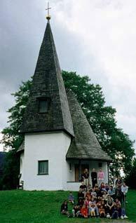 Участники лагеря штутгартского прихода в Оберштауфене