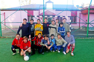 Футбольный матч в Ставропольской духовной семинарии