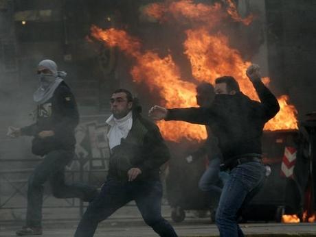 Беспорядки в Греции. Фото Reuters