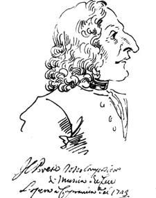 Слева: карикатура на Вивальди П.Л. Чеззи. 1723. Справа: Портрет Вивальди Франциса Мореллона де ля Кавве. 1725 г. Так по-разному видели его современники
