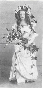 Любовь Дмитриевна Мендлеева в роли Офелии. 1898 год